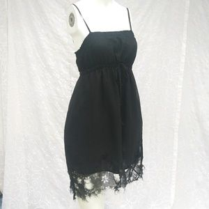 Dots Little Black Grunge Dress Size Small